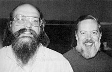 Kenneth Thompson (left) with Dennis Ritchie                 (right)
