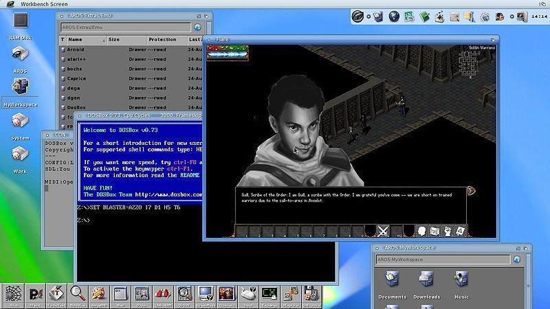 Icaros Desktop 1.3.1 with Amiga 68K integration
